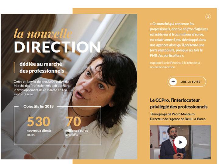 Com'etic réalise l'édition digitale du magazine interne de la banque BCP