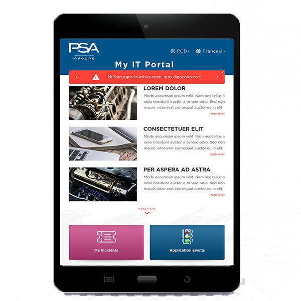 Com'etic réalise le webdesign de l'intranet métier pour PSA Group