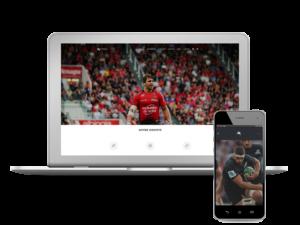 Création du site d'une Agence d'intermédiation intervenant entre joueurs de Rugby et clubs de haut niveau de TOP 14, PRO D2, mais aussi de Premiership, Super Rugby et rugby à XIII.
