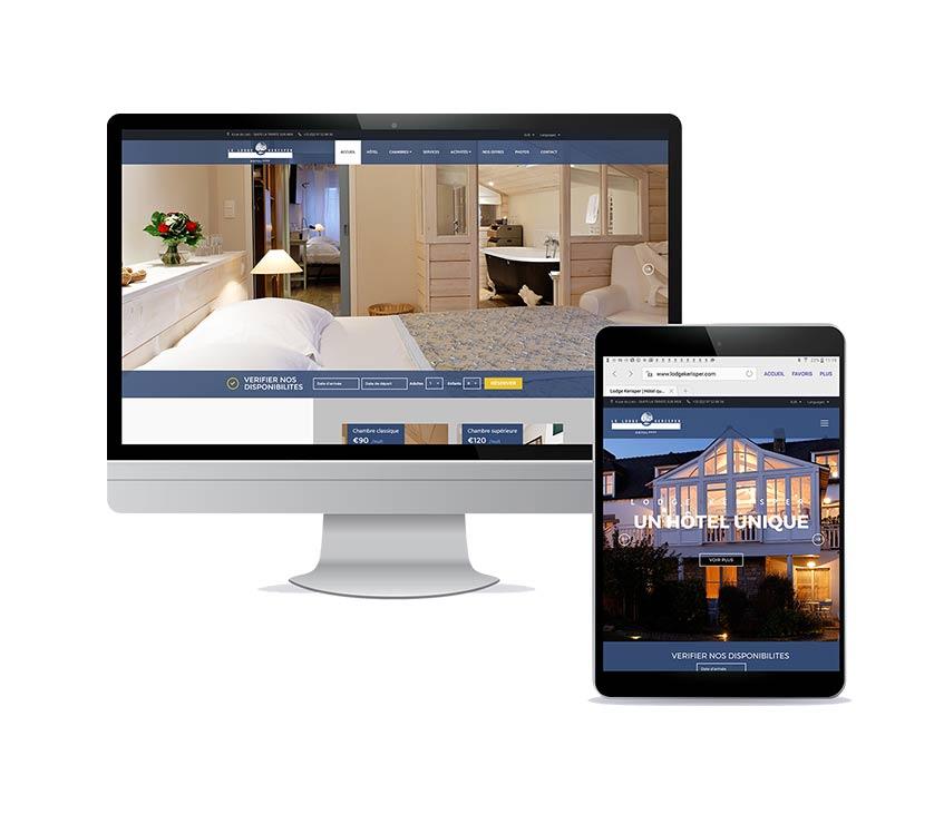 Site Internet de l'hôtel**** Le Lodge Kerisper dans le Morbihan - Drupal - Animation SEO