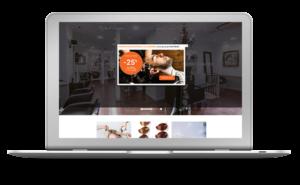 Création du site d'un salon de coiffure à Paris. L'entreprise a bénéficié de l'offre digitale TPE de Com'etic