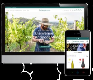 création d'une boutique en ligne pour la vente et livraison de vins australiens