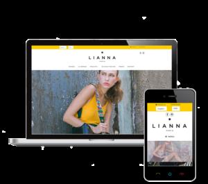 création eshop shopify magasin lianna