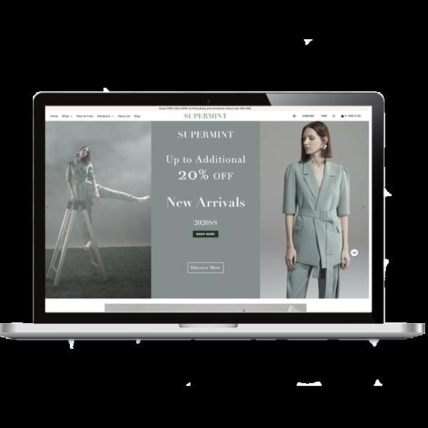 création boutique en ligne shopify magasin de vêtements