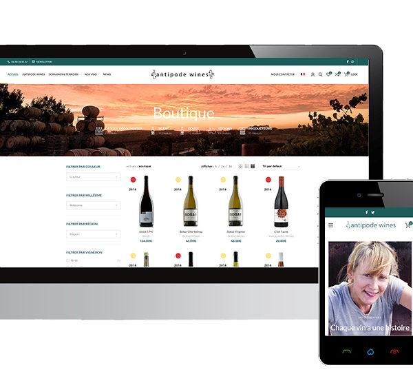 site e-commerce AntipodeWines, vente de vins naturels australiens