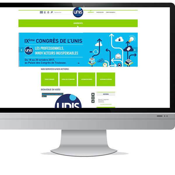 Com'etic accompagne en méthode Agile l'Unis, 1e syndicat de la gestion de copropriétés et de la rénovation immobilière, pour la refonte de son dispositif Internet.