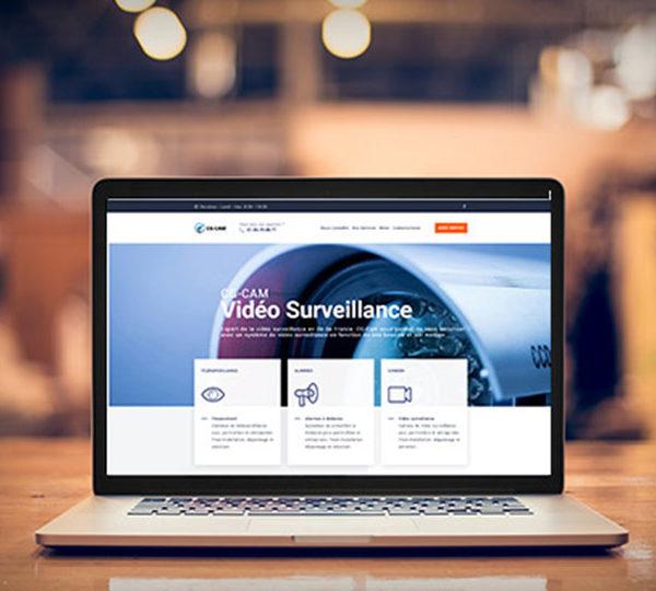Création du site d'une société d'installation de matériels de vidéosurveillance et d'alarmes.