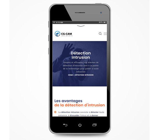 Com'etic réalise la refonte du site de CG-CAM, installateur et dépannage de système de video surveillance et alarmes