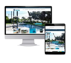 Com'etic réalise le site Internet d'un pisciniste à Royan. Offre digitale TPE - WordPress